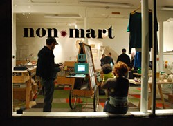 KATHRYN KENWORTH - You can acquire artwork at Non*Mart, but you won't need to pay any money to do so.
