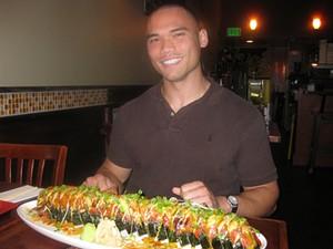 You can do it, baby: Bay Shabu Sushi Sake's four-pound Killer Whale Roll. - BAYSHABUSUSHISAKE.COM