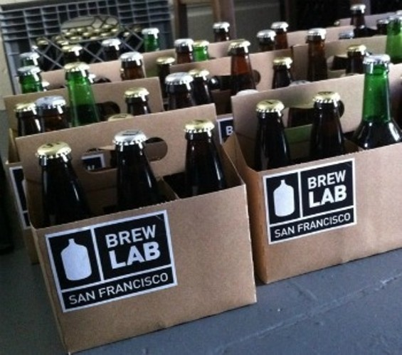 You get a mismatched six-pack of home-brews from the beer CSA. - BREWLAB