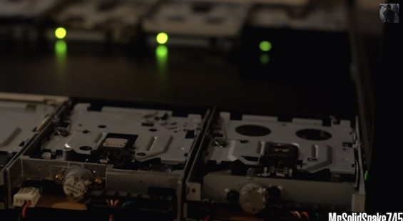 Your new floppy drive orchestra.