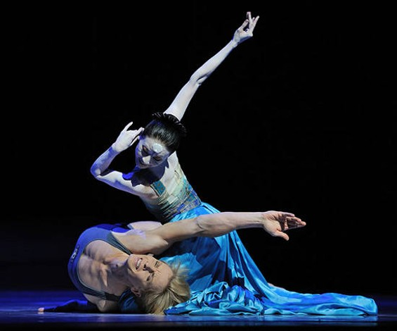 Yuan Yuan Tan (top) and Tiit Helimets in The Little Mermaid. - ERIK TOMASSON