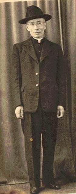Yuon Peong Ku, one of the earliest Korean - immigrants, in 1930.
