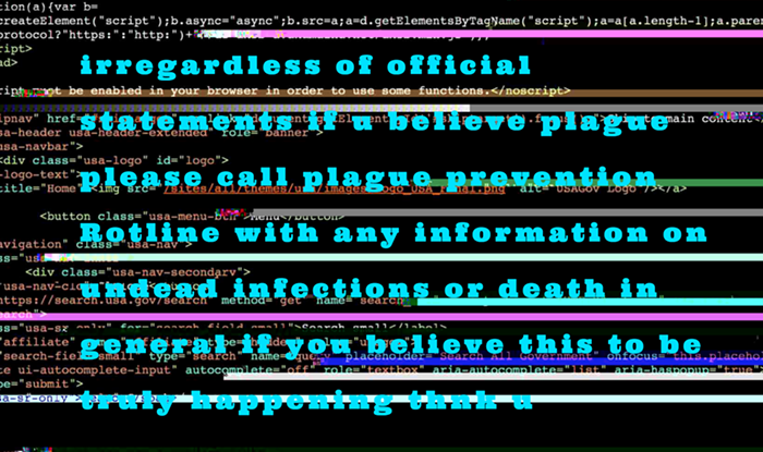 irregardless of official statements if you believe plague please call plague prevention Rotline with any information on undead infections of death in general if you believe this to be truly happening thnk u
