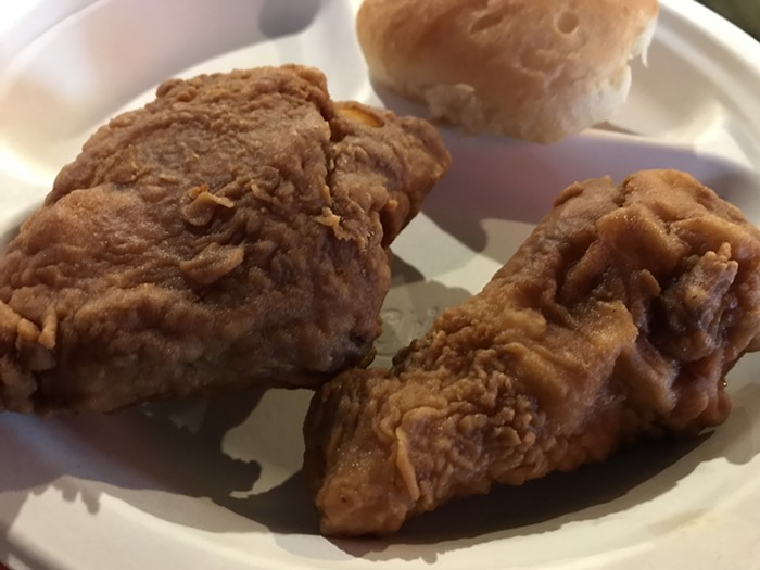 Heaven Sent fried chicken: not our favorite but definitely delicious