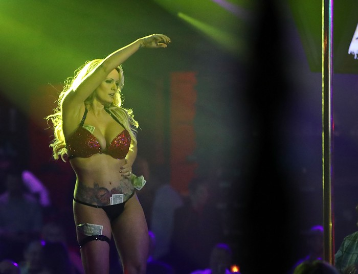 Stormy performing in Fort Lauderdale strip club in March.