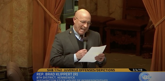 The exact moment Rep. Klippert screams the word anal in the exact tone of a man about to come all over himself.