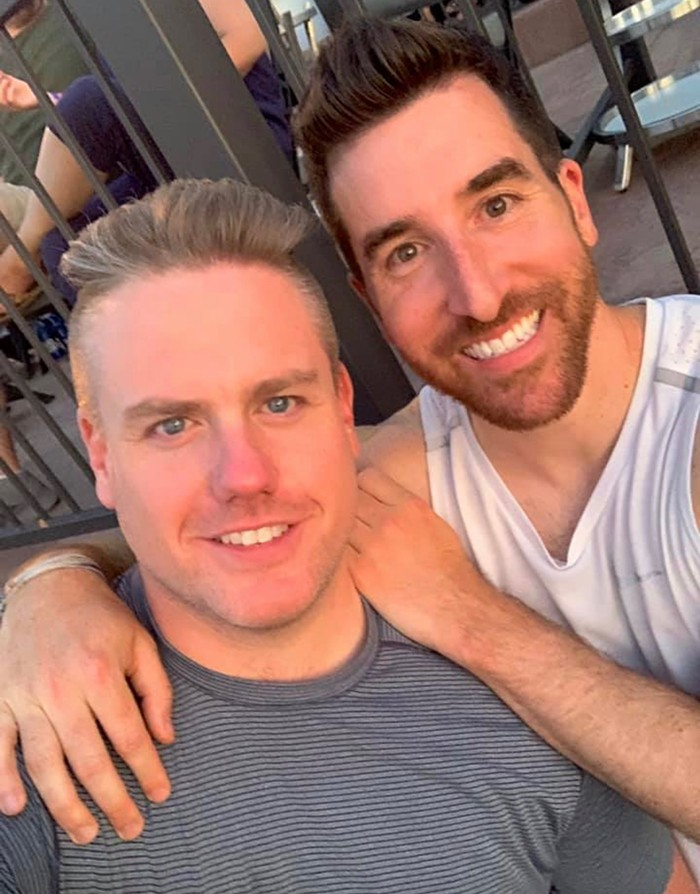 Paul Danforth, at right, with his fiancé Sean Nyberg.