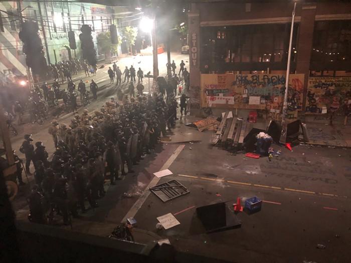 One of tonights standoffs.