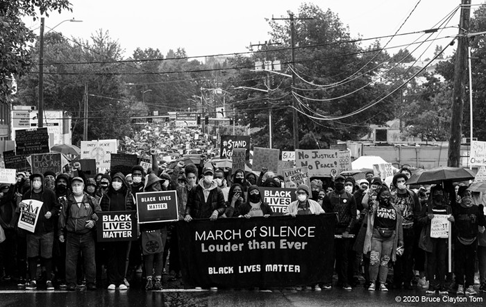 The Black Lives Matter March of Silence on June 12 in Seattle.