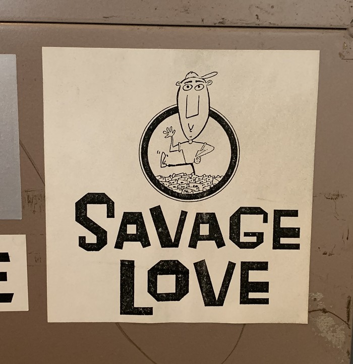 Spotted right next to the other Savage Love sticker.