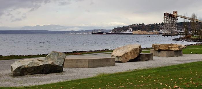 Very thoughtful slabs of granite.