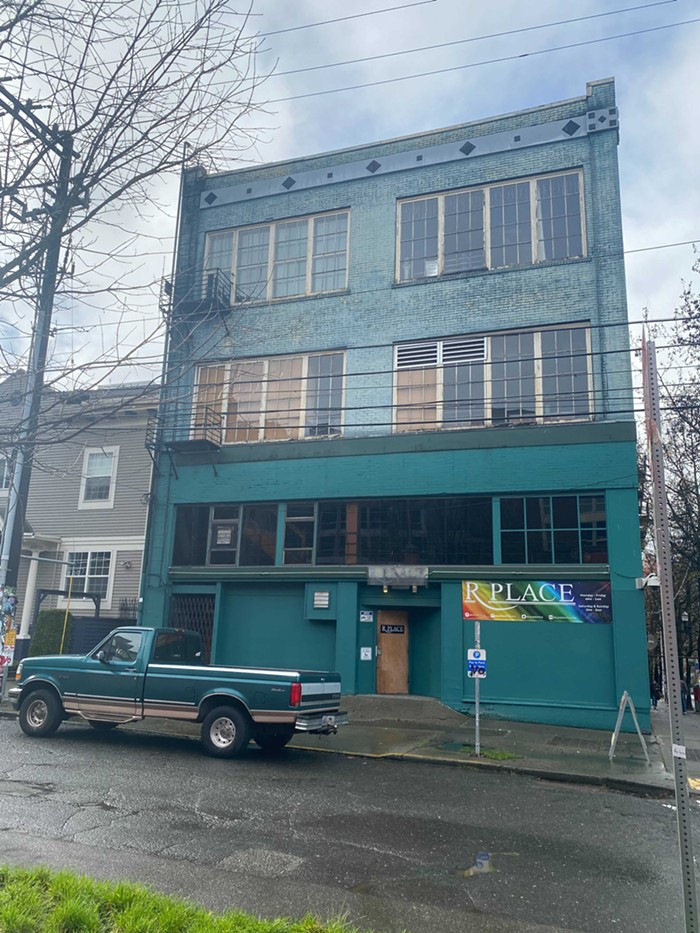I never realized how teal R Place was. Probably distracted by the butts in the windows.