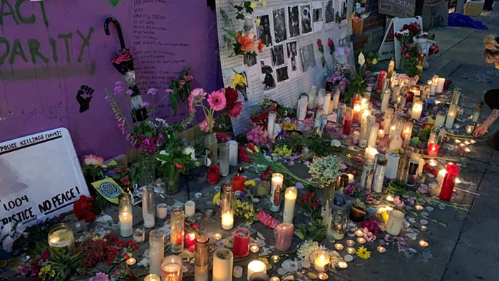 Part of the vigil that used to be on 11th Ave.
