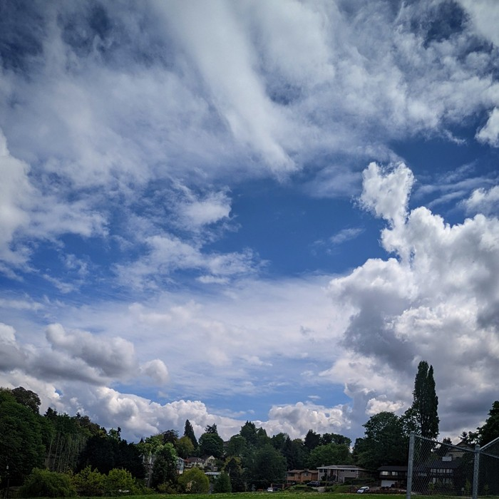 Genesee Park and Playfield has some of the best clouds in Seattle.