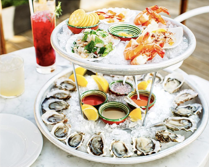 Indulge your extravagant side with an ice-cold seafood tower from Westward.