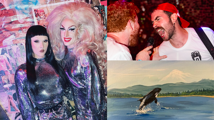 This week, were dancing with queens at Pony, screaming with Actionesse at Drunky Two Shoes, and painting and sipping in West Seattle.