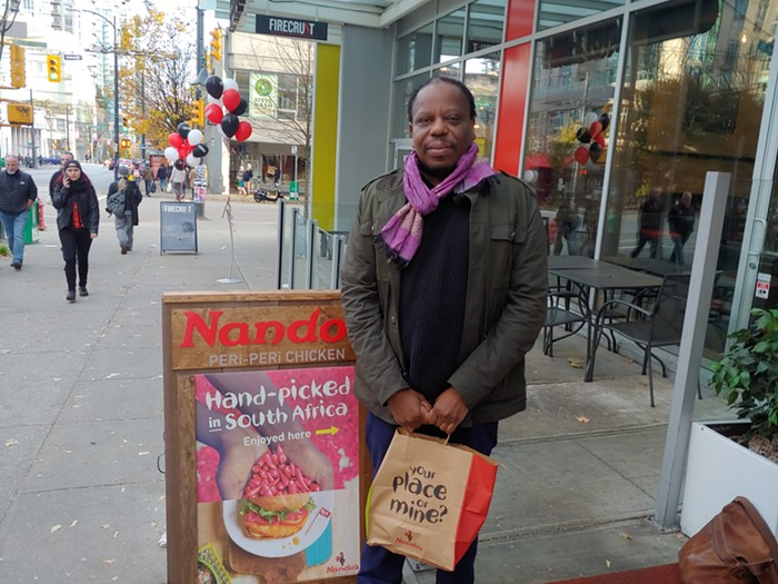 Biden says I need to wait a little more to get my grubby hands on Nandos South African-style chicken in Vancouver BC. Im cool with that.