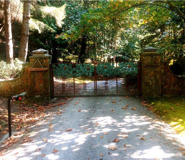 I saw the gate of this sprawling Orcas Island property in real life once. The same might be true for its former owner, Oprah Winfrey.