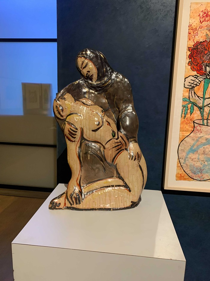 The Takamori sculpture I don't have enough space for in my studio apartment.