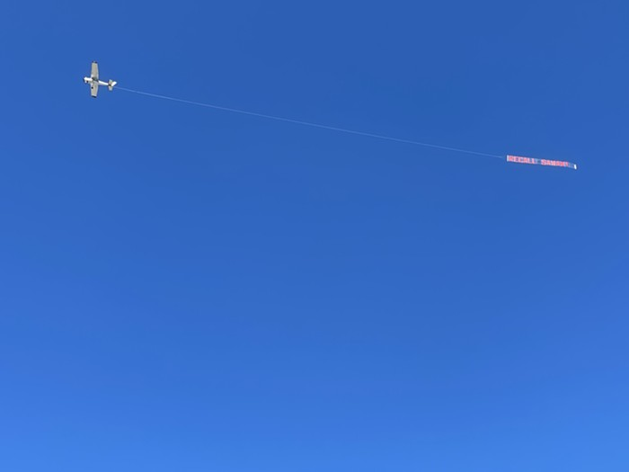 Honestly $6,000 for plane banners seems kinda low. I wonder if they got a good deal.