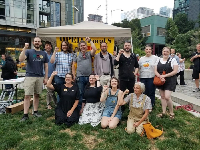 Earlier this summer, Cornish staff mobilized community with a union solidarity rally.