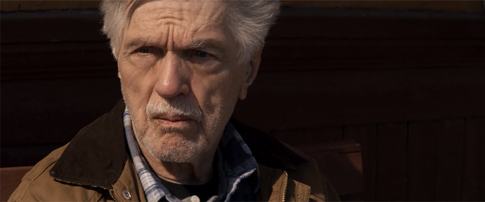 Tom Skerritt contemplates his future in EAST OF THE MOUNTAINS.