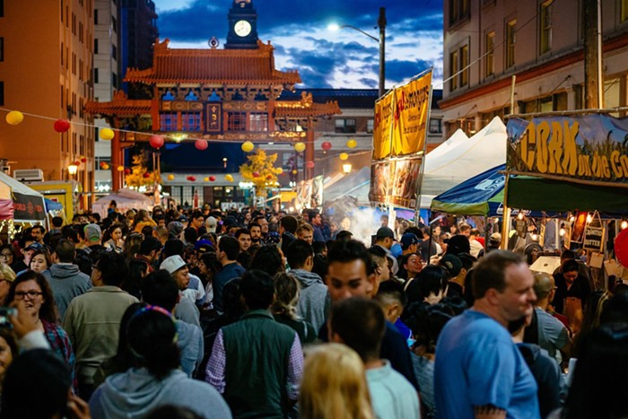 Nosh on Asian delicacies at the Chinatown-International District Night Market while taking in performances ranging from taiko to wushu.