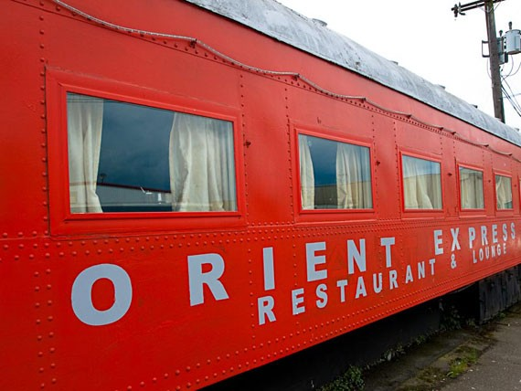 Halloween night at train car house party at orient express for Car house