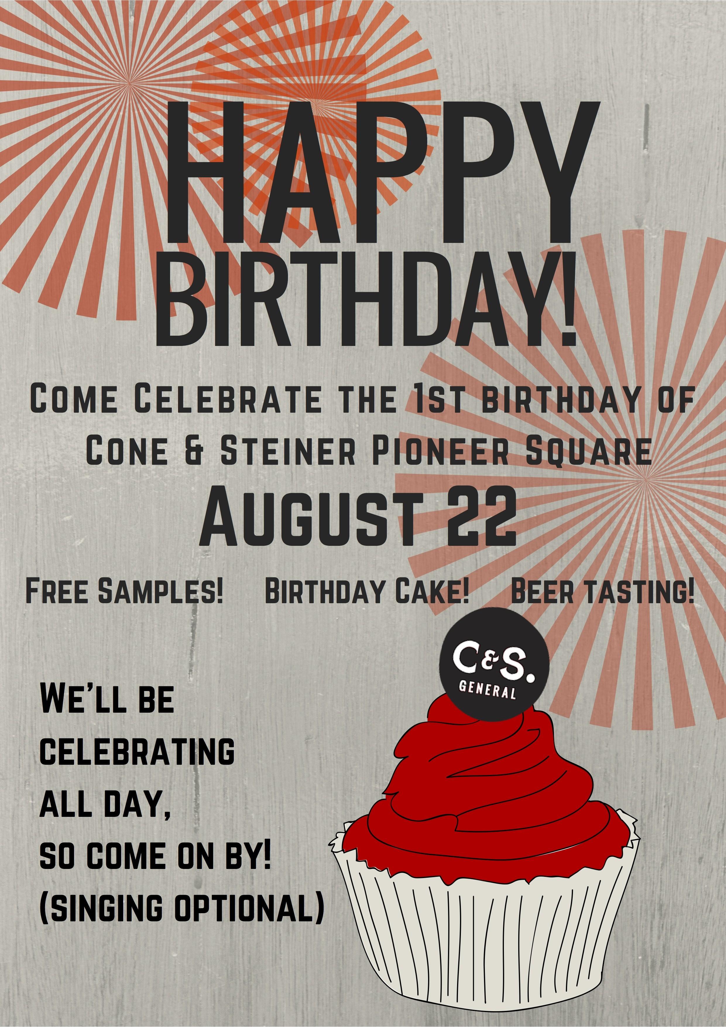 Cone Steiner 1st Birthday