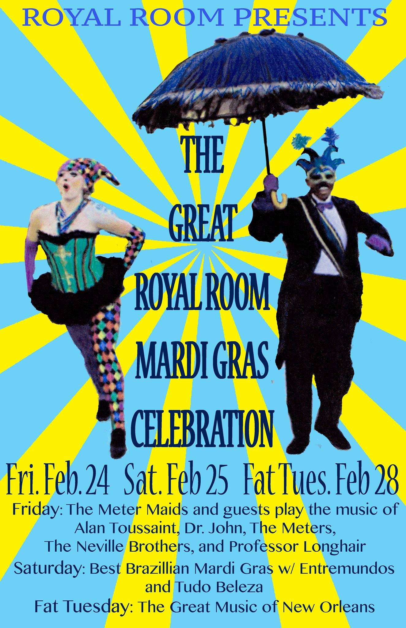 The Great Royal Room Mardi Gras Celebration The Meter