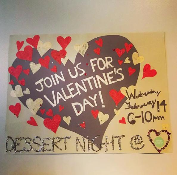 valentine's day dessert night at coyle's bakeshop in seattle, wa, Ideas