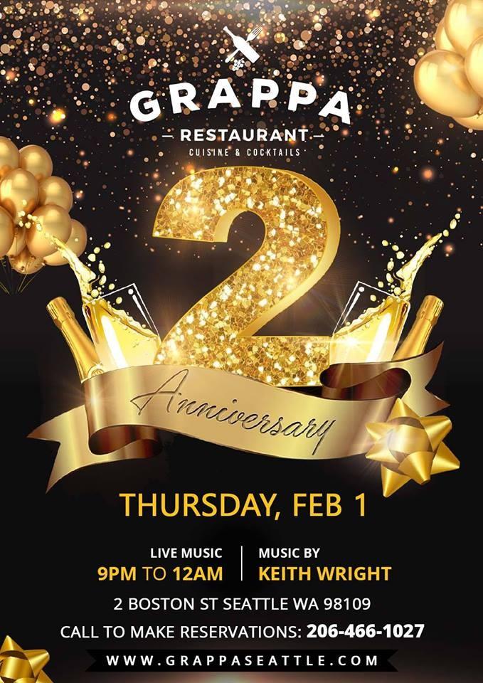 grappa s 2 year anniversary at grappa in seattle wa on thu feb 1