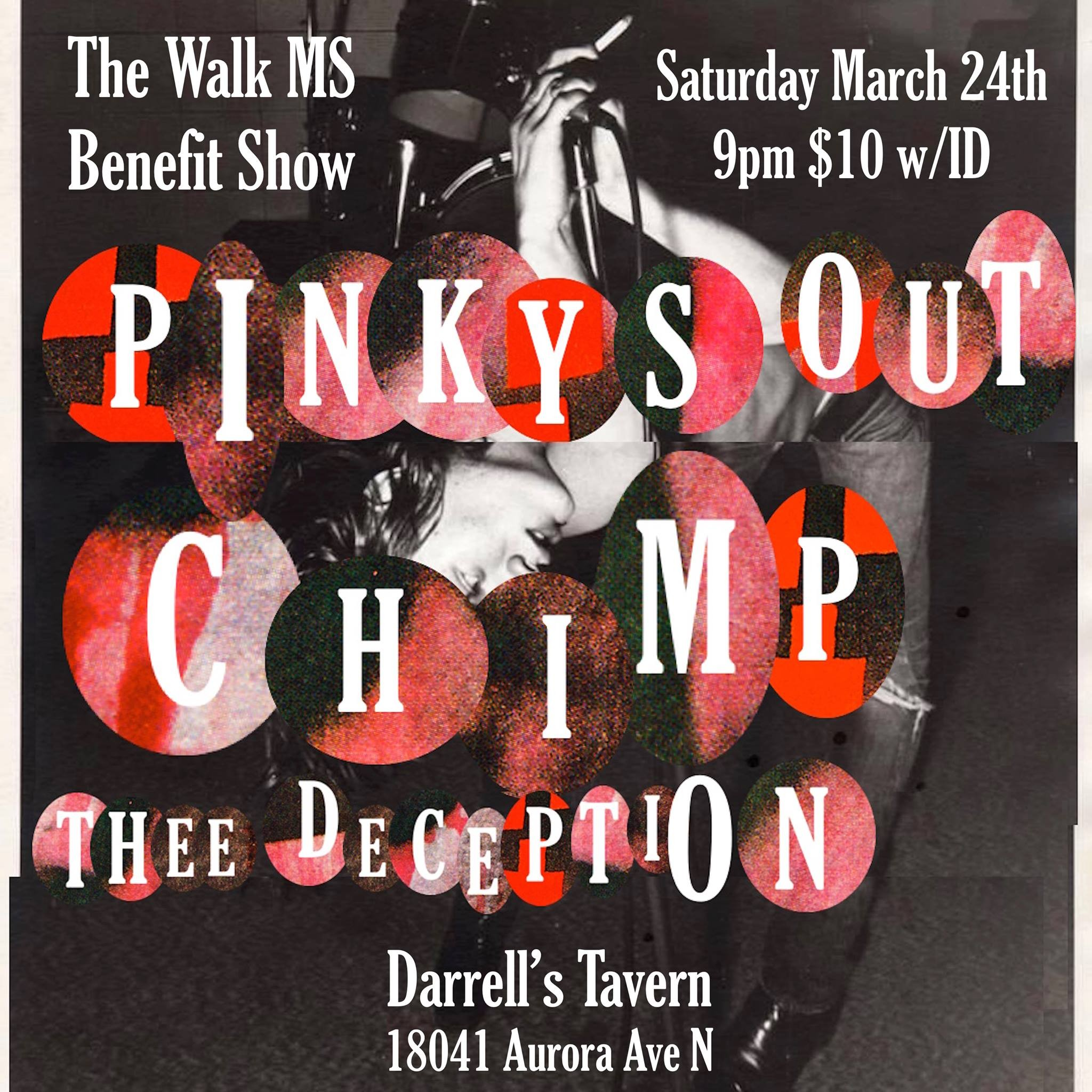 Pinkys Out, Chimp, Thee Deception at Darrell's Tavern in