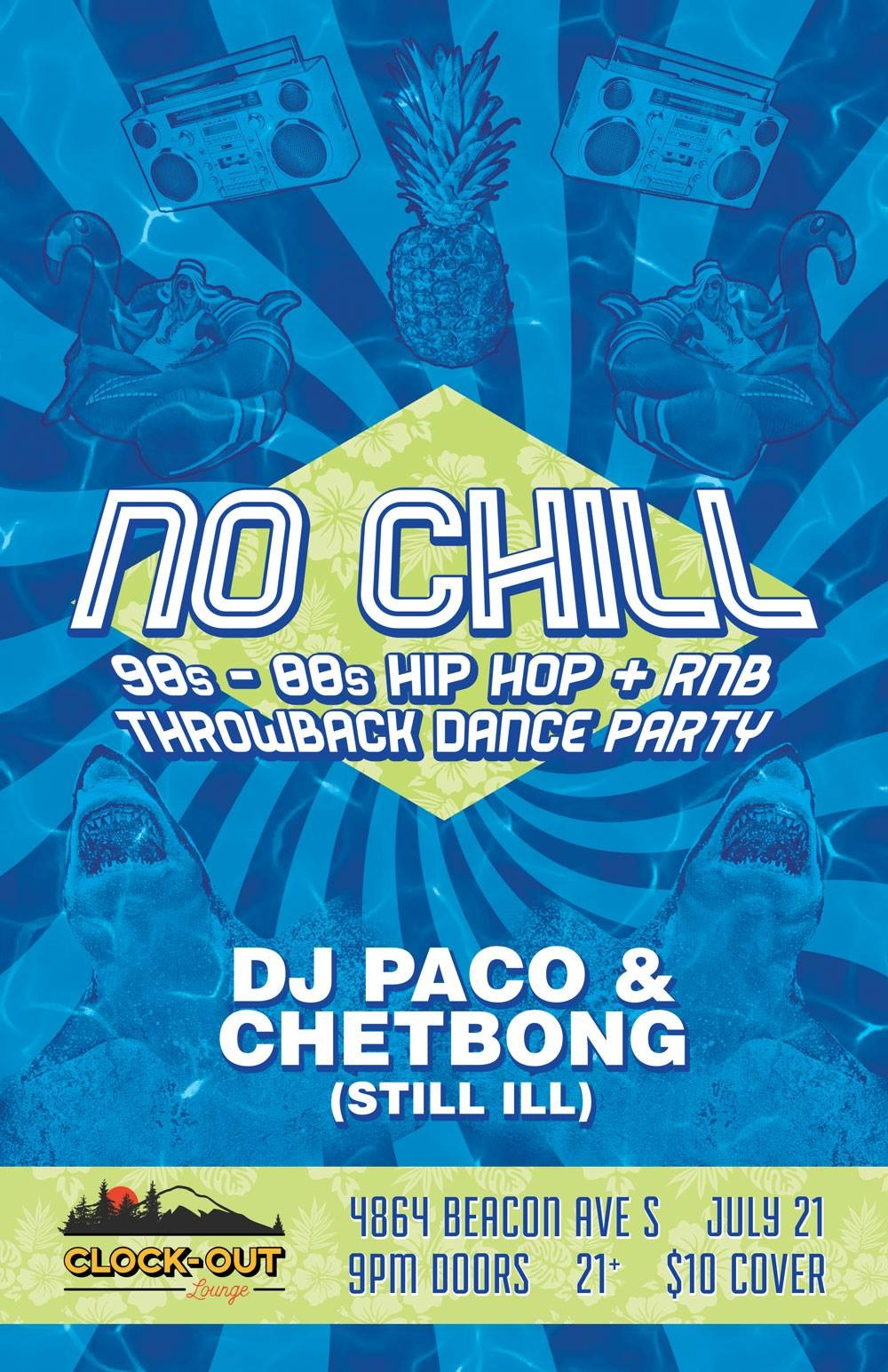 No Chill: \'90s-\'00s Hiphop and R&B Throwback Party at Clock-Out ...