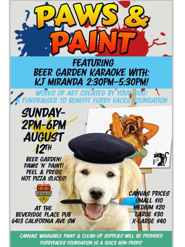 Paws U0026 Paint Karaoke Beer Garden Party