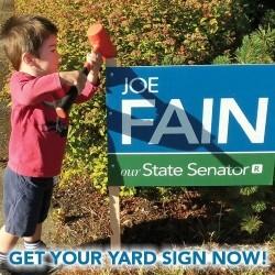 A Google ad from Sen. Joe Fain.