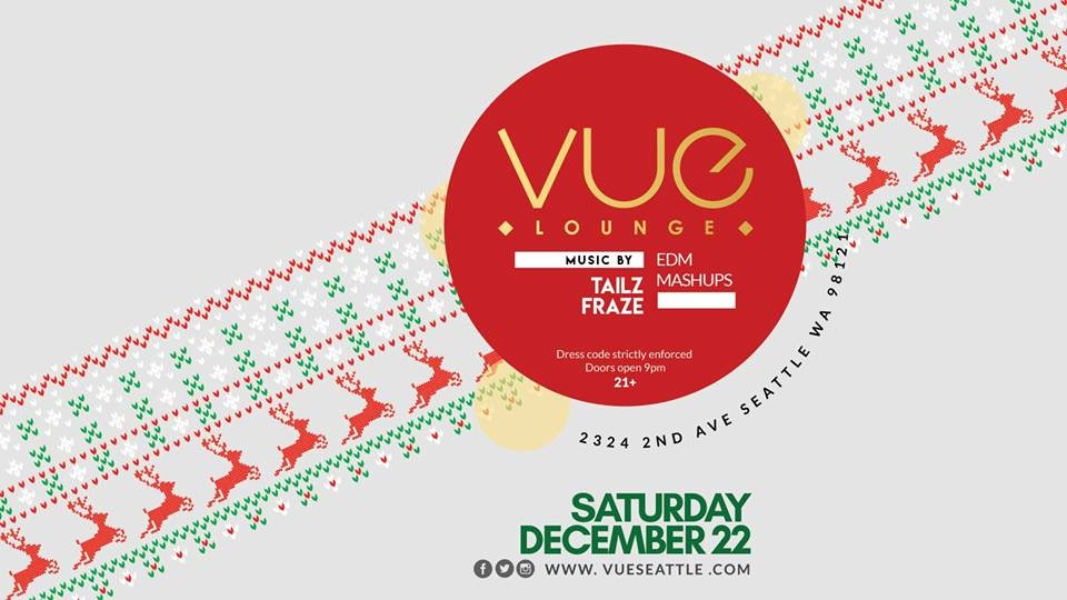 Vue Lounge Saturdays Ugly Christmas Sweater Party At Vue Lounge In