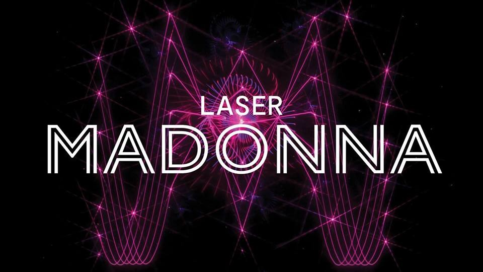 laser madonna at laser dome at pacific science center in seattle wa