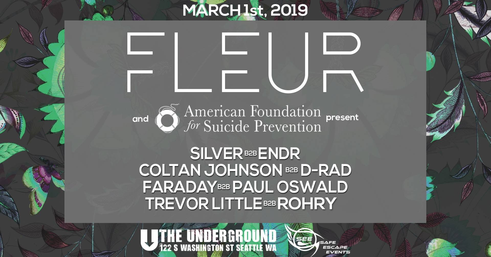 Fleur A Night For Growth At The Underground In Seattle Wa On Fri