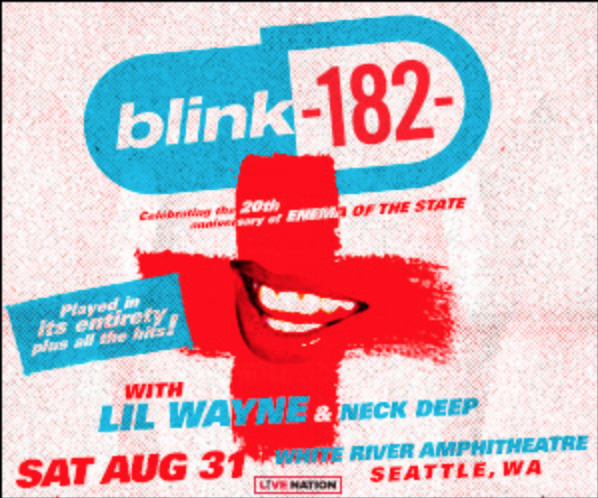Wayne State Calendar.Blink 182 Lil Wayne Neck Deep At White River Amphitheatre In