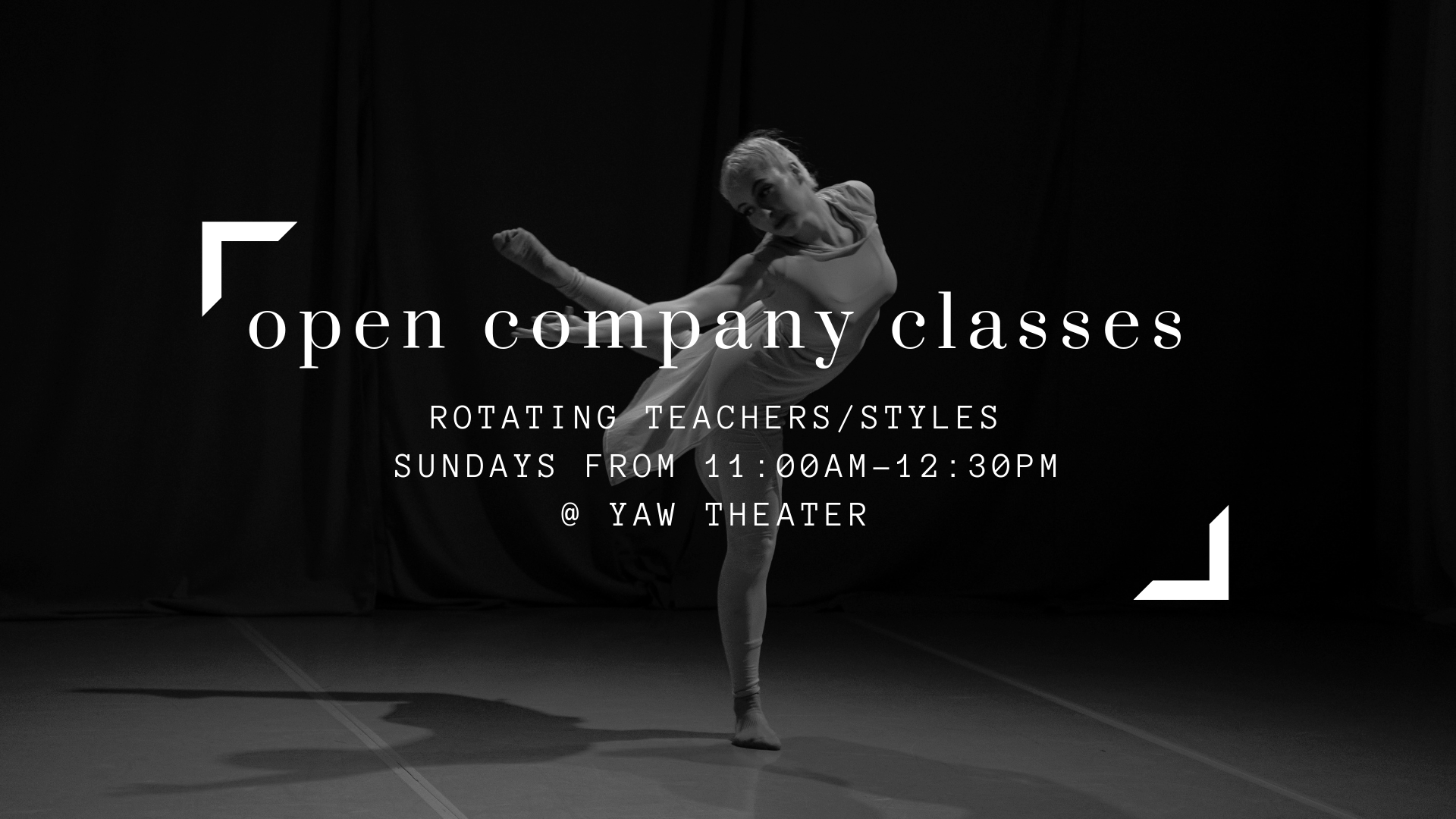 Intrepidus Dance Open Company Classes at Yaw Theater in