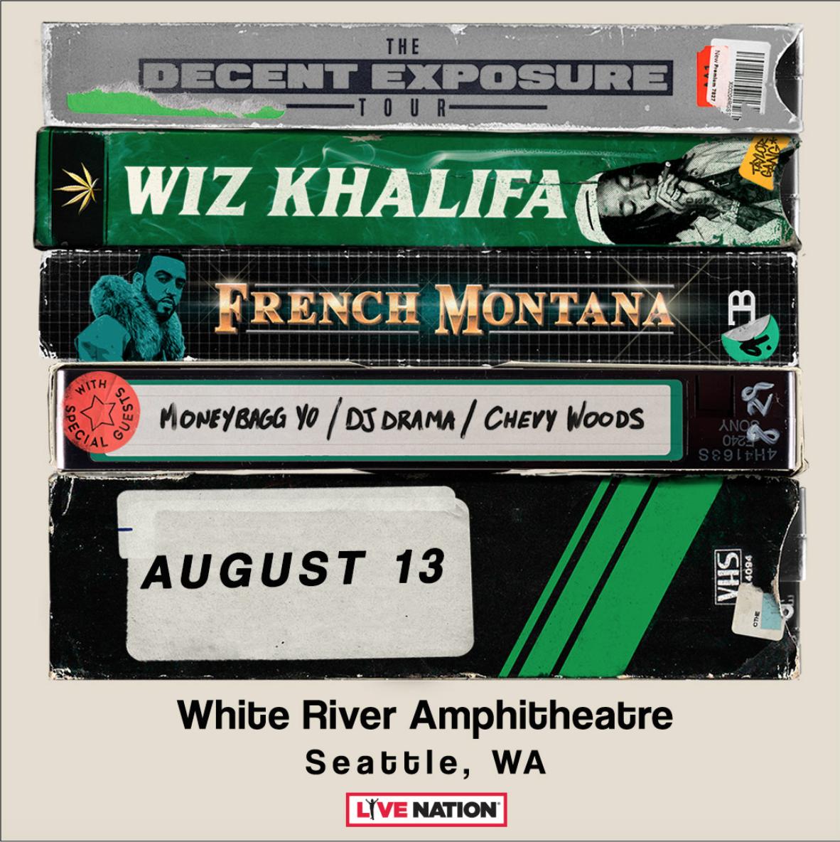 e2f640cfda84 Wiz Khalifa, French Montana, Moneybagg Yo, Chevy Woods, DJ Drama. The Decent  Exposure Tour
