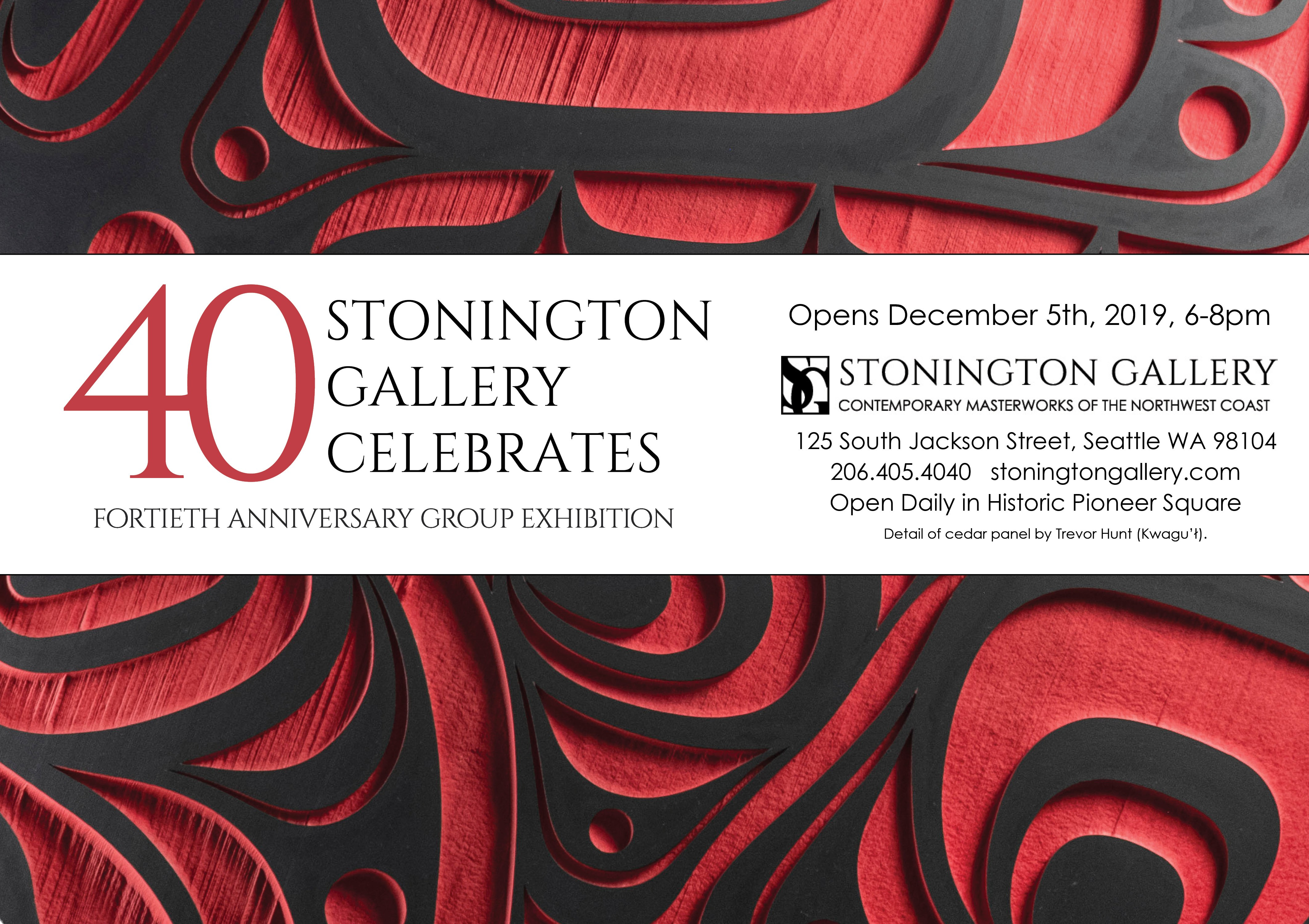Seattle Events Calendar December 2019 Stonington Celebrates 40: Fortieth Anniversary Group Exhibition at