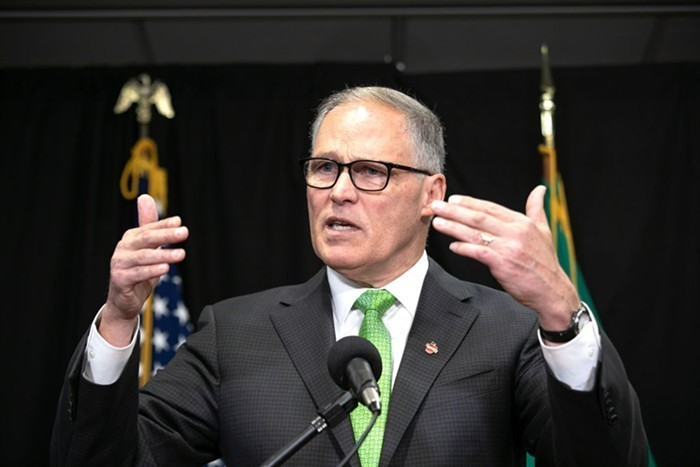 Like other executives, Inslee reiterated his understanding that people are justifiably outraged at the police killing of George Floyd.