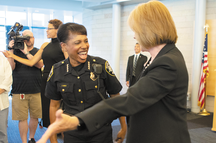 SPD Chief Best and Mayor Jenny Durkan apparently still have faith in each other!