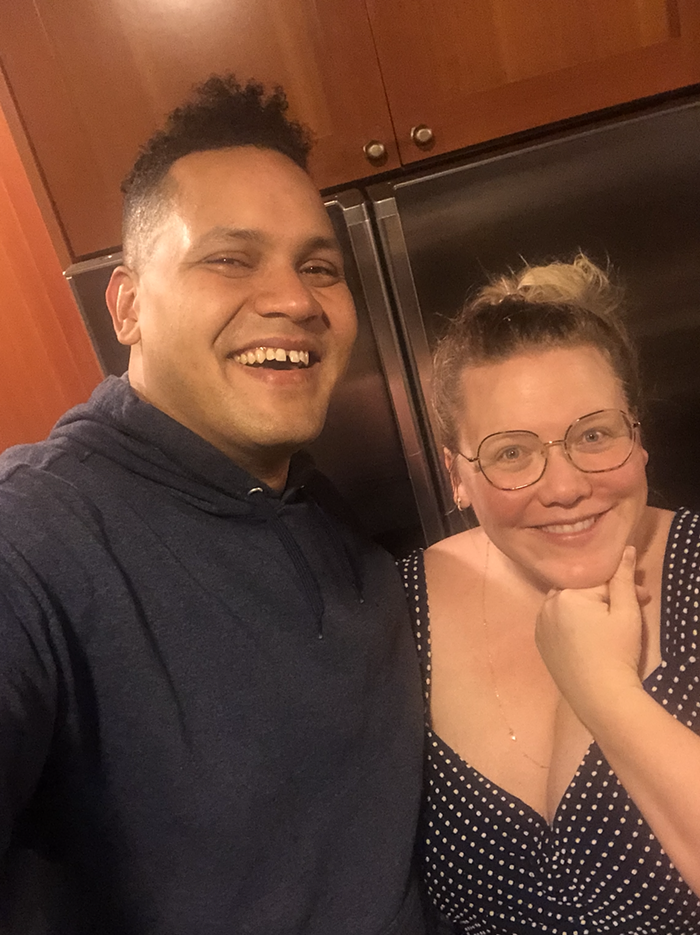 Lindy West and Ahamefule J. Oluo have been spending lots of time at home, like everyone else.