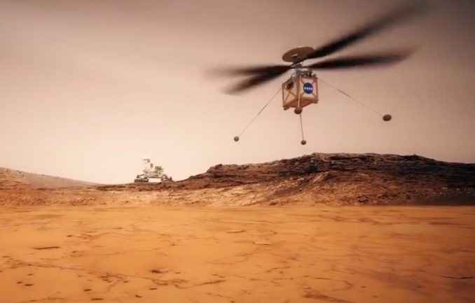 Mars gets its first helicopter...