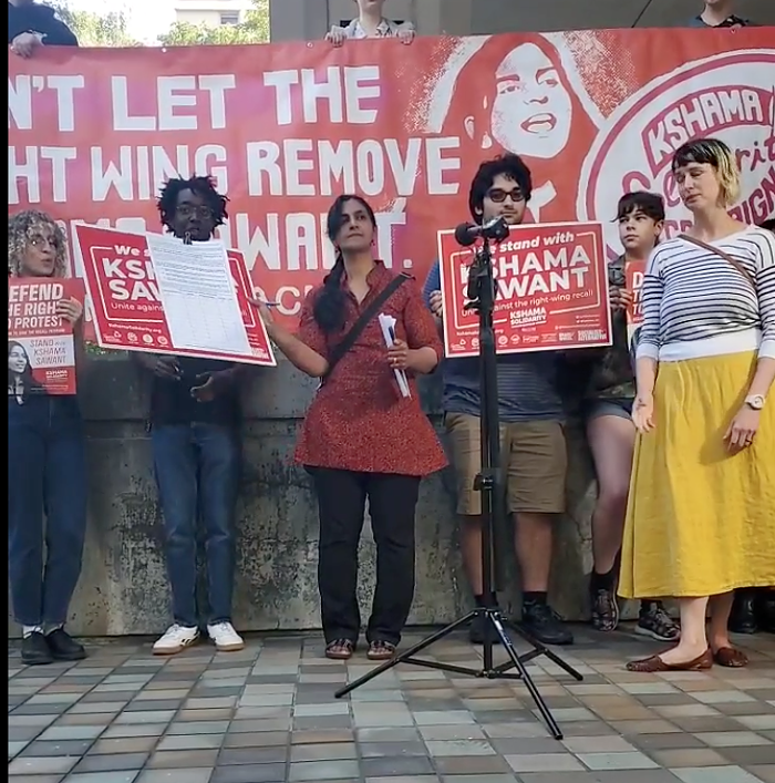 Put up or shut up, Seattle City Councilmember Kshama Sawant told the recall campaign when she signed the petition recalling her from office.