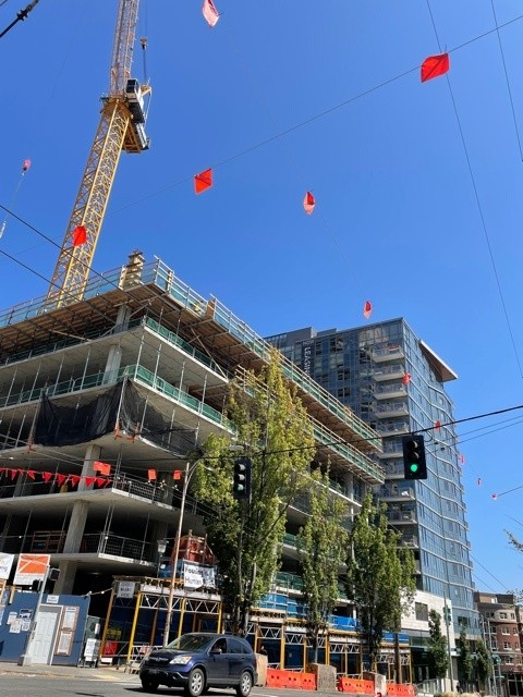 The construction of the first affordable housing tower in forever.