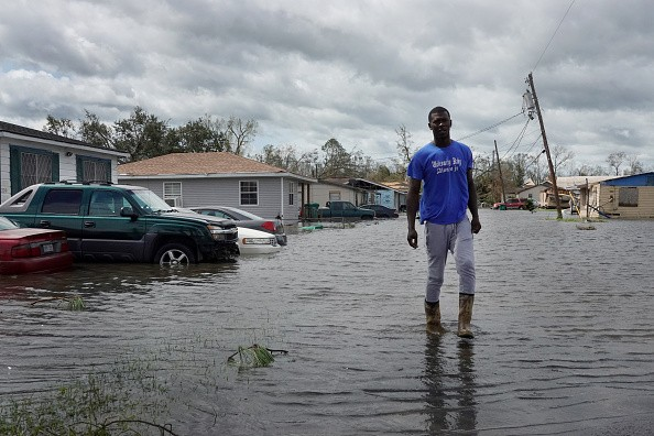 The levees held for the most part, but some suburban areas such as LaPalce, pictured here, took on water.